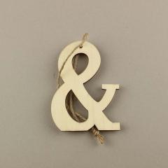 Ξύλινο σύμβολο & 6εκ