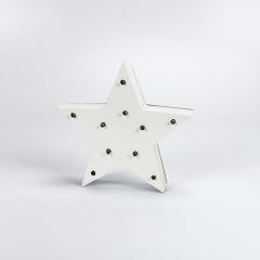Ξύλινο διακοσμητικό αστέρι με led