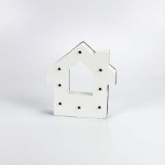 Ξύλινο διακοσμητικό σπιτάκι με led