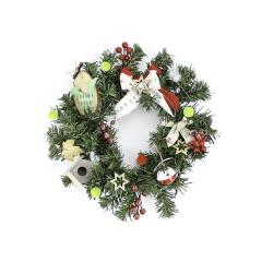 Στεφάνι χριστουγεννιάτικο με led 35εκ