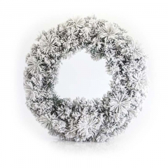 Χριστουγεννιάτικο στεφάνι χιονισμένο 50cm