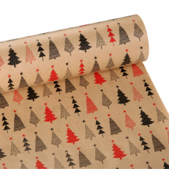 Χριστουγεννιάτικο χαρτί περιτυλίγματος με έλατα 60εκX10μ