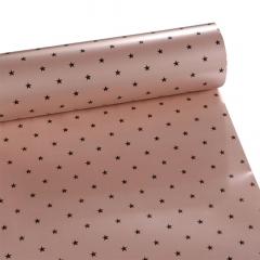 Χριστουγεννιάτικο χαρτί περιτυλίγματος ροζ με αστέρια 80εκX10μ