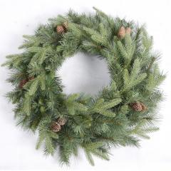 Χριστουγεννιάτικο στεφάνι κλαδιά ελάτου και κουκουνάρια 60εκ