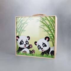Ξύλινο κουτί βάπτισης συρταρωτό Panda