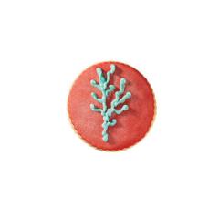 Μπισκότο ζαχαρόπαστας σε σχήμα κοράλλι