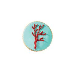 Μπισκότο ζαχαρόπαστας σε σχήμα σιέλ κοράλλι
