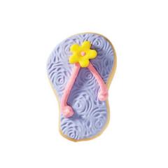 Μπισκότο ζαχαρόπαστας σε σχήμα μοβ σαγιονάρα