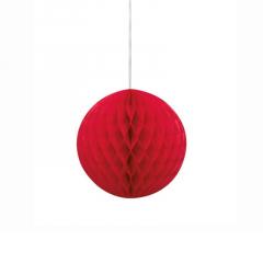 Μπάλα honeycomb σε κόκκινο χρώμα